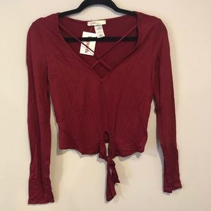 Tops - NWT Red Tie Top